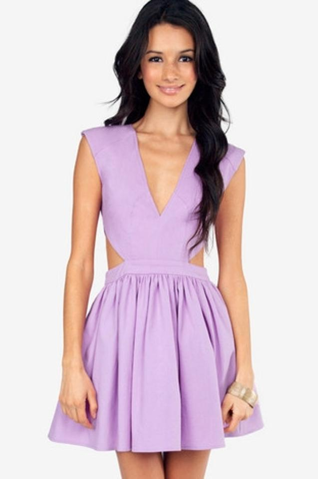 b75daf75c2 Tobi Lavender Lilac Schrock Frock Cutout Mini Night Out Dress Size 6 ...