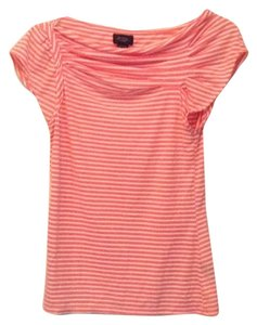Anthropologie T Shirt White and light orange.