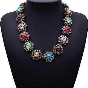 Era Colorful Gems Of Stars Choker Necklace Charm Necklace For Womens