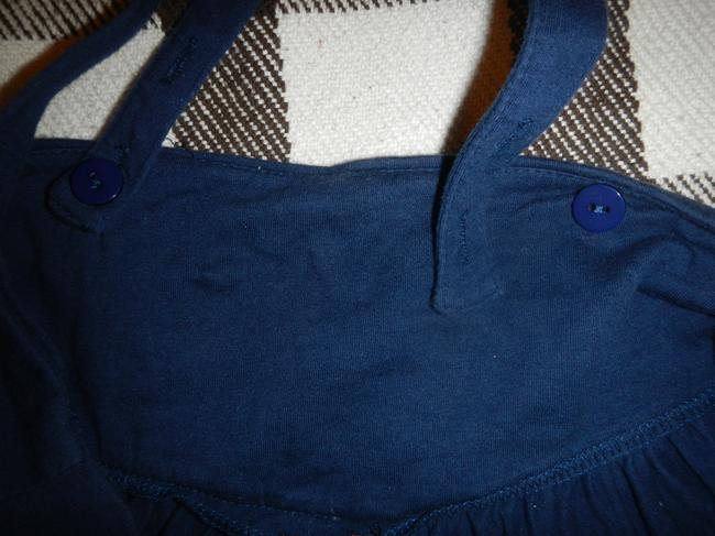 Lux Topshop Removable Straps Mini Skirt blue