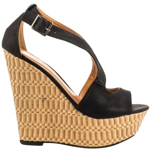 Shoe Republic LA Wedge black Wedges