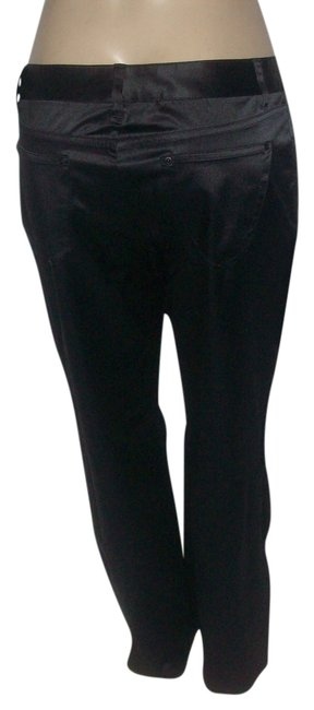Vera Wang Black Simply Cotton Polyester Spandex Blend Pants Size 12 (L, 32, 33) Vera Wang Black Simply Cotton Polyester Spandex Blend Pants Size 12 (L, 32, 33) Image 1