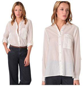 Marc by Marc Jacobs Button Up Blouse Blouse Button Down Shirt Parchment