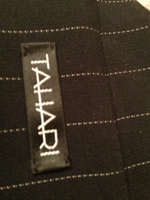 T Tahari Tahari 2 Pc Black Pinstripe Pants Suit