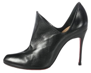 Christian Louboutin Leather Stiletto Lb.j0915.18 Dugueclina Side Dip Boots