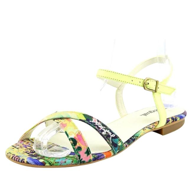 Item - Yellow Floral Plana In Sandals Size US 8.5 Regular (M, B)