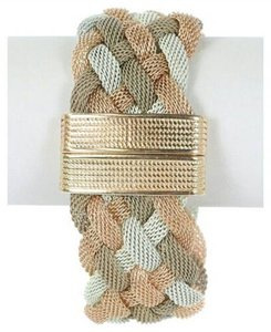 Other Latticed Strap Buckle Accent Bracelet