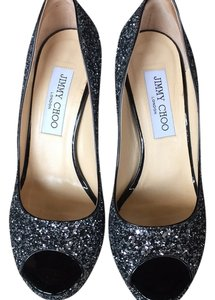 Jimmy Choo Black & silver Platforms