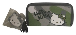 Hello Kitty HELLO KITTY GREY WALLET / ORGANIZER ZIP AROUND