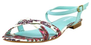 Desigual Floral Edgy Turquoise Sandals
