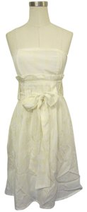 Dolan short dress Creme, Yellow on Tradesy