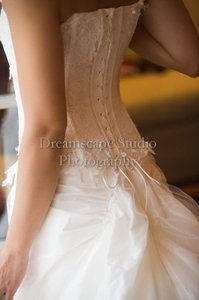 Cymbeline Paris White Gown Feminine Wedding Dress Size 6 (S)