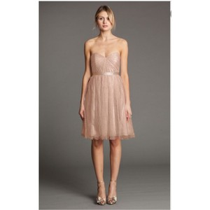 Jenny Yoo Blush Lace Aster Feminine Bridesmaid/Mob Dress Size 8 (M)