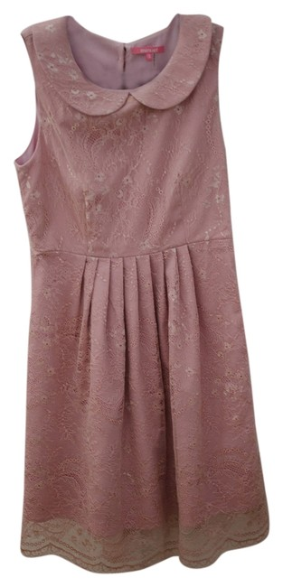 Item - Rose Pink Modcloth Peter Pan Collared Above Knee Cocktail Dress Size 4 (S)