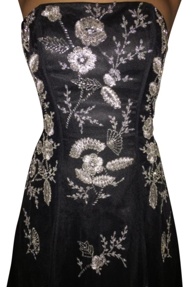 Cache Black Beaded Evening Gown Long Formal Dress Size 2 (XS) - Tradesy