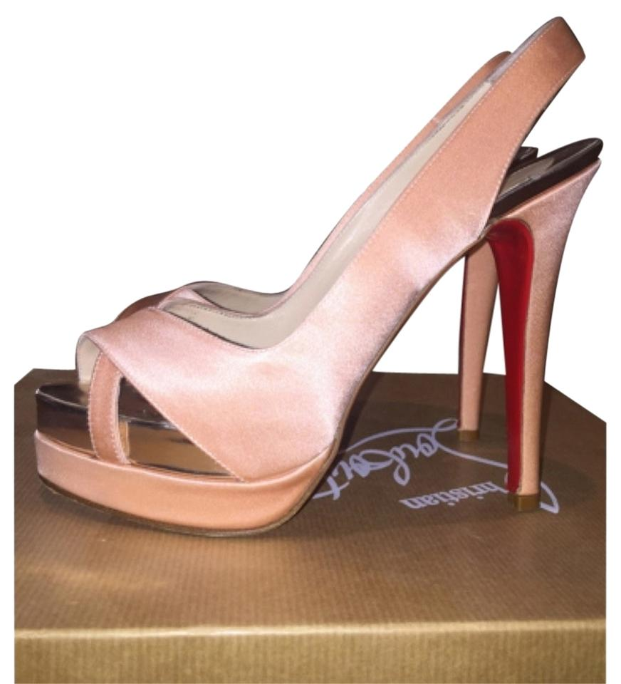 Christian Louboutin Blush Very Eu Croise 140 Crepe Satin Eu Very Platforms f49fb9