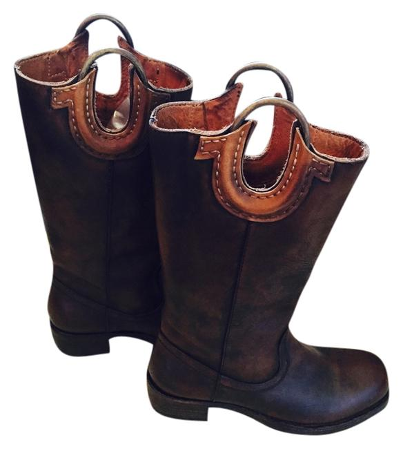 Item - Brown Dark Leather Boots/Booties Size US 6.5 Regular (M, B)
