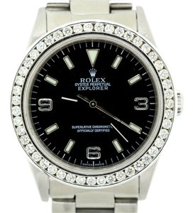 Rolex MEN'S ROLEX EXPLORER DIAMOND BEZEL WATCH