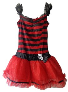 Halloween short dress red and black on Tradesy