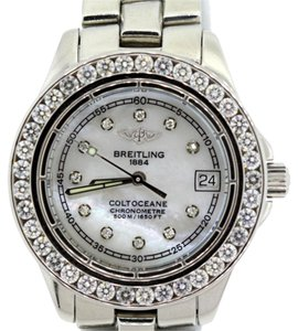Breitling Watches For Sale >> Breitling Ladies Coltoceane 2 9ct Diamond Watch Tradesy