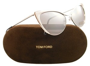 Tom Ford Tom Ford Sunglasses TF 304 Silver 16C Grey Cat eye Nastasya 56mm Italy