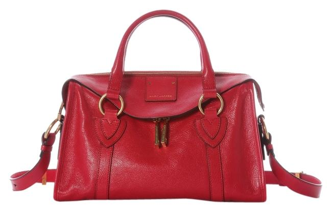 Item - Fulton Small Flame Red Leather Satchel