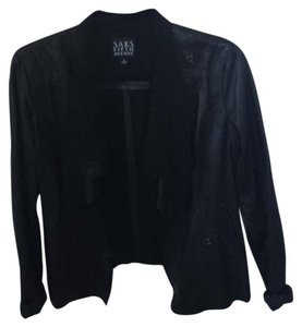Saks Fifth Avenue Blk Leather Jacket