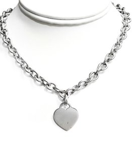 Tiffany & Co. Tiffany & Co Sterling Silver Necklace With Heart Charm