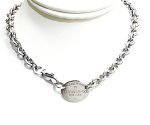 Tiffany & Co. Tiffany and Co. Sterling Silver Necklace with Oval
