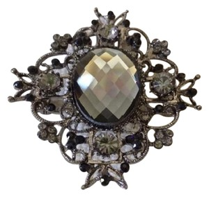 Other NWOT Black & Clear Stones Brooch