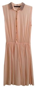 Zara short dress peach Woman on Tradesy