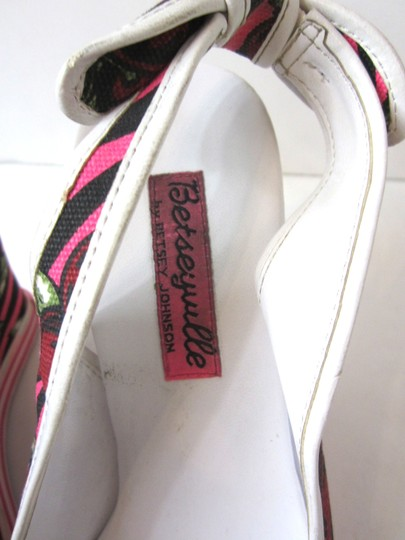 Betsey Johnson Hot Pink, Black, Cherry Wedges