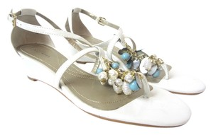 Tahari Pearl Blue, Golden Sandals