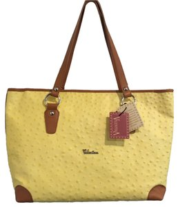 Valentina Pet And Smoke Free Leather Tote in Yellow