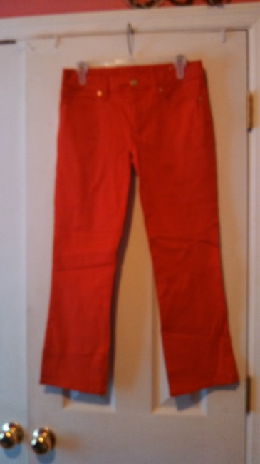 Item - Red Capri/Cropped Jeans Size 27 (4, S)