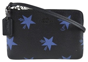 Coach Coach Black with Blue Star Canyon Small Zippy Wristlet