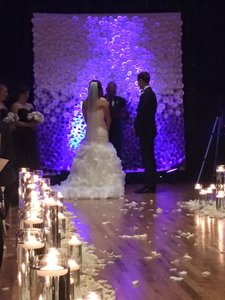 9' X 9' Paper Flower Wedding Ceremony And Reception Back Drop