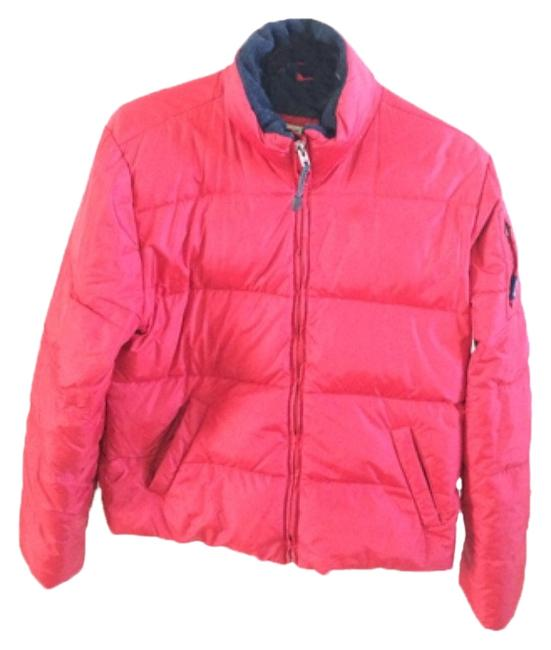 Abercrombie & Fitch Red Down Puffer Coat Size 8 (M) Abercrombie & Fitch Red Down Puffer Coat Size 8 (M) Image 1
