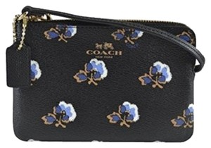 Coach Floral Bramblerose Wristlet in Blue Multi-Color