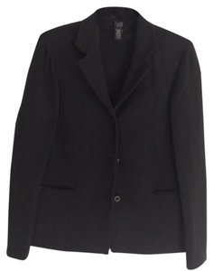 Eileen Fisher Viscose Wool Lycra Black Jacket