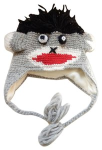 Other Chrochet Sock Monkey Aviator Trapper Hat