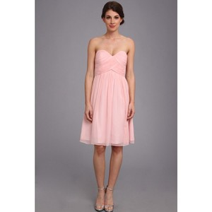 Donna Morgan Blush Chiffon Destination Bridesmaid/Mob Dress Size 6 (S)