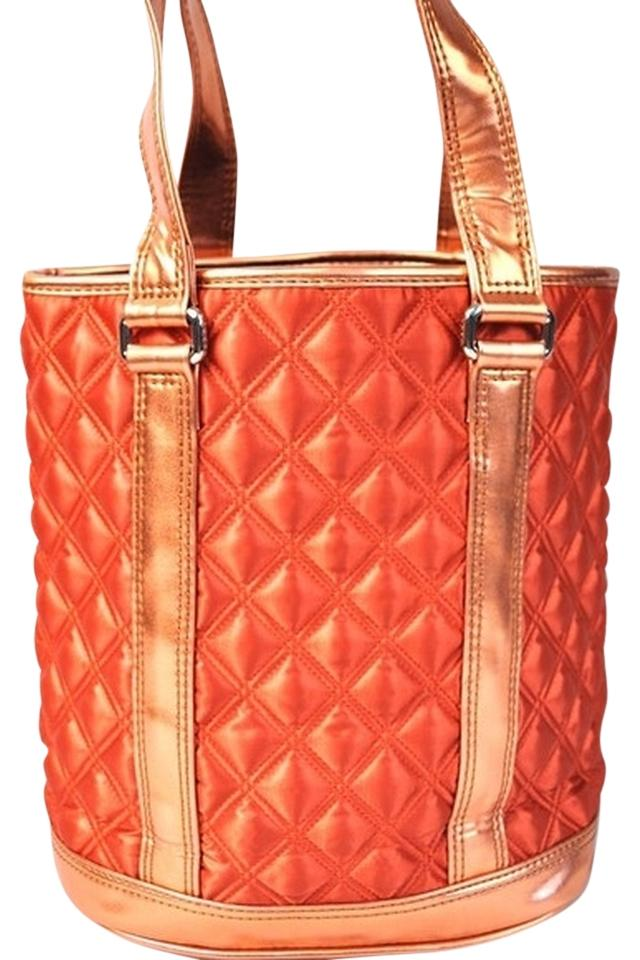 Marc Jacobs Burnt Orange Mix. Pleather Fabric Tote - Tradesy : marc jacobs quilted tote bag - Adamdwight.com