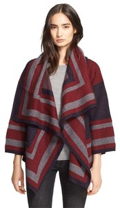 Burberry Coat Jacket Blanket Wrap Boho Cape