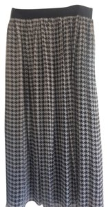 Talbots Maxi Skirt BLACK AND WHITE