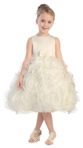Tip Top Kids Flower Girl Commiunion Occasion Bow Sleeveless Dress