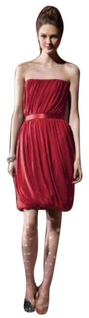 Item - Red Social Bridesmaids 8108...cocktail Dress...valentine....16 Short Night Out Dress Size 16 (XL, Plus 0x)