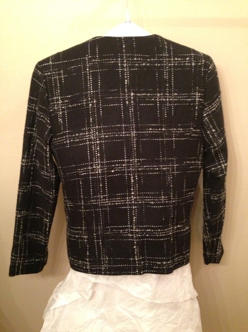 Sweaterworks Black With White Geometric Design Blazer
