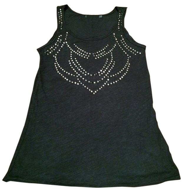 Item - Black Cool Studded Tank Top/Cami Size 4 (S)
