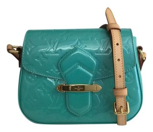 Louis Vuitton Pm Vernis Turquoise Exclusive Shoulder Bag